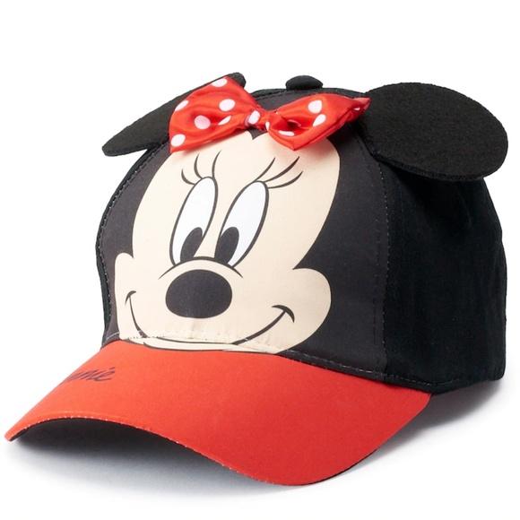 3bb76cc7fc6fe4 Disney Accessories | Minnie Mouse Cap Toddler Girls Bow | Poshmark